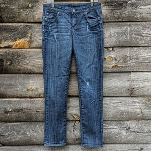 Kut from the Kloth Distressed Straight Leg Jeans